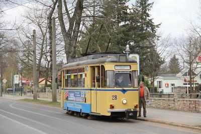 Woltersdorfer Strassenbahn 28 Thalmanplatz Walterdorf 2 Apr 16