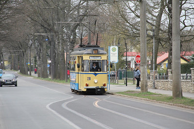 Woltersdorfer Strassenbahn 28 Thalmanplatz Walterdorf 1 Apr 16