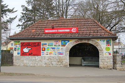 Woltersdorfer Strassenbahn Thalmannplatz shelter Apr 16