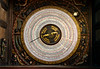 The interior Astronomical Clock of the St. Mary's Church in Rostock, Germany, Europe.