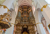 The interior of the St. Mary's Church in Rostock, Germany, Europe.