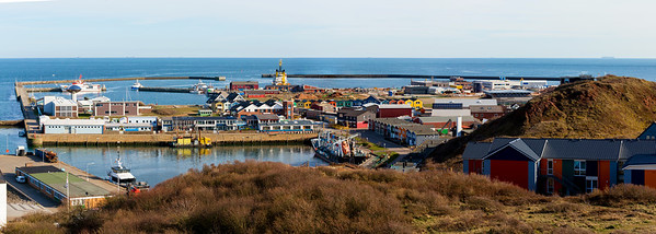helgoland city from hill