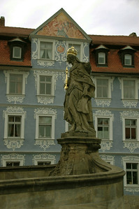 Saint Kunigunde's statue in front of the Bishop's Palace
