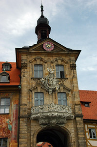 Newer part of the Alte Rathaus built in the 18th century over the River Regnitz in the Baroque style