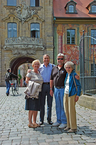 In front of the Old Town Hall which dates from 1467
