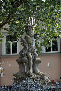 Fountain of Neptune (1698) in the Green Market, Bamberg