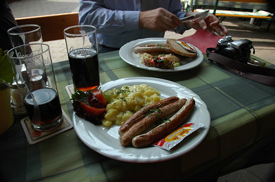 Lunch in a biergarten without the bier.
