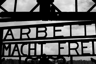 "Dachau Concentration Camp (""Work Frees"")"