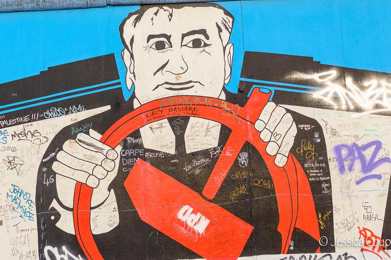 Gorbachev on the Wall