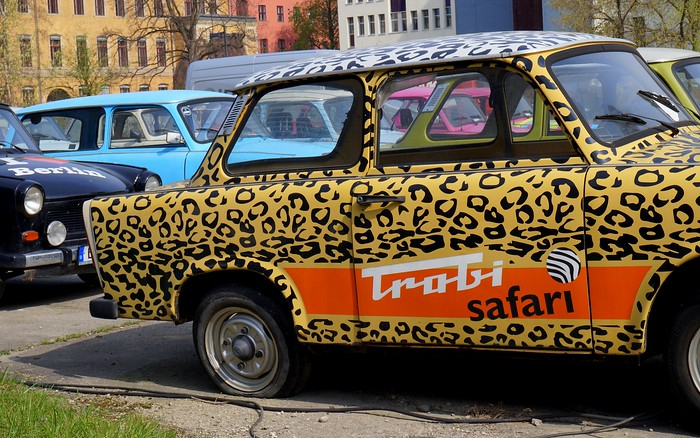 You can tour Berlin in an old Trabant!
