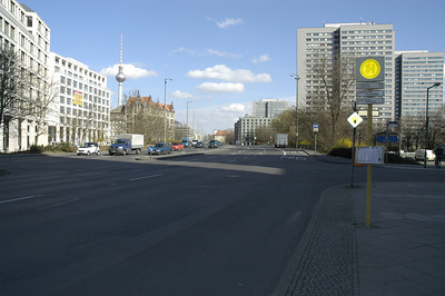 A view of Gertrauden Strasse from the point of Spittelmarkt which joins the Leipziger Strasse to west - the opposite direction of this view.