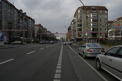 A view of the Wilhelmstrasse, looking northwards.
