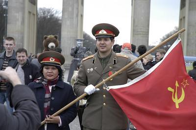 Brandenburg Gate (Pariser Platz):  Making a living in the name of the EX-SOVIET EMPIRE!