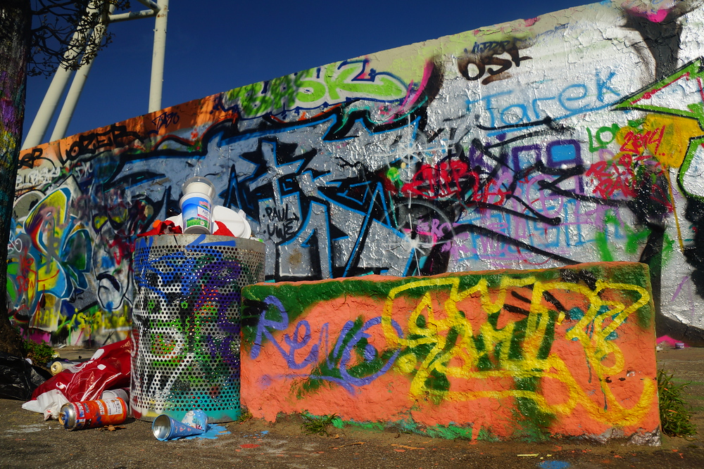 Here is a shot of the Mauerpark wall section when nobody else was around.