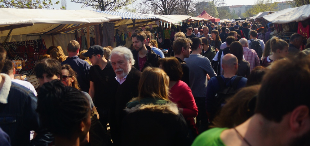 This should give you a good idea of just how busy the 'flea market' section of Mauerpark is in the middle of a Sunday afternoon