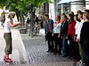 Street choir, Weimar, 27 June 2004.