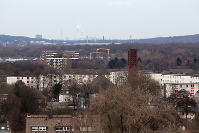 Northern view to Oberhausen and the Gasometer