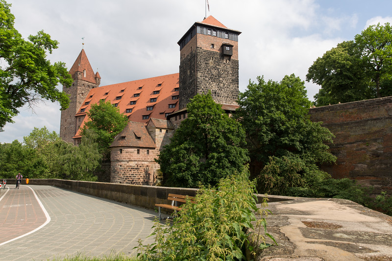Youth Hostel and Five-Cormer-Tower seen from tne north