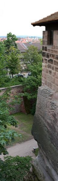 walls and ditch. Panorama