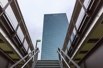 Europäische Zentralbank, European Central Bank, Frankfurt Skyline & Harbour in winter