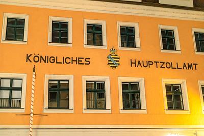 Sächsisches Wappenschild am Hauptzollamt, Meißen