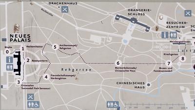 Karte, Sanssouci, Potsdam