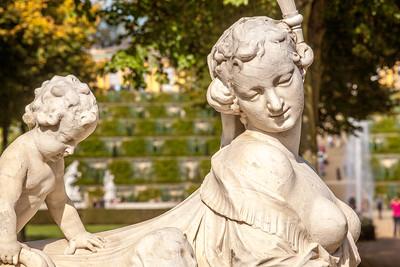 Skulptur, Weinbergterrassen und Schloss Sanssouci, Potsdam