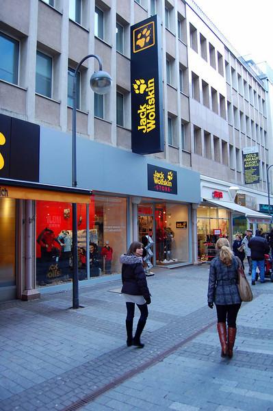 My favorite German store, Jack Wolfskin