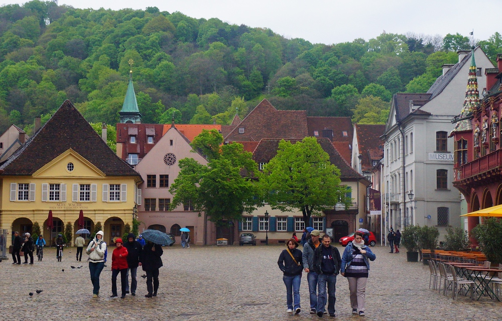 Another shot from the Old Town Square with the Black Forest in the background.