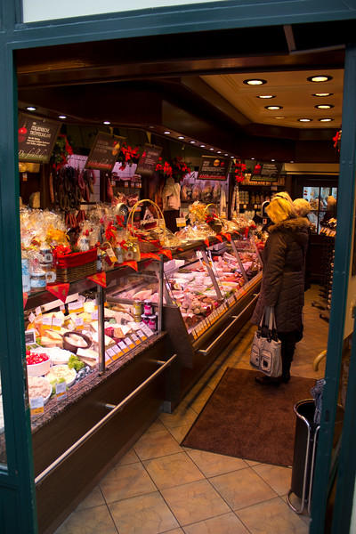 Germany, Heidelburg, Delicatessen on the Hauptstr