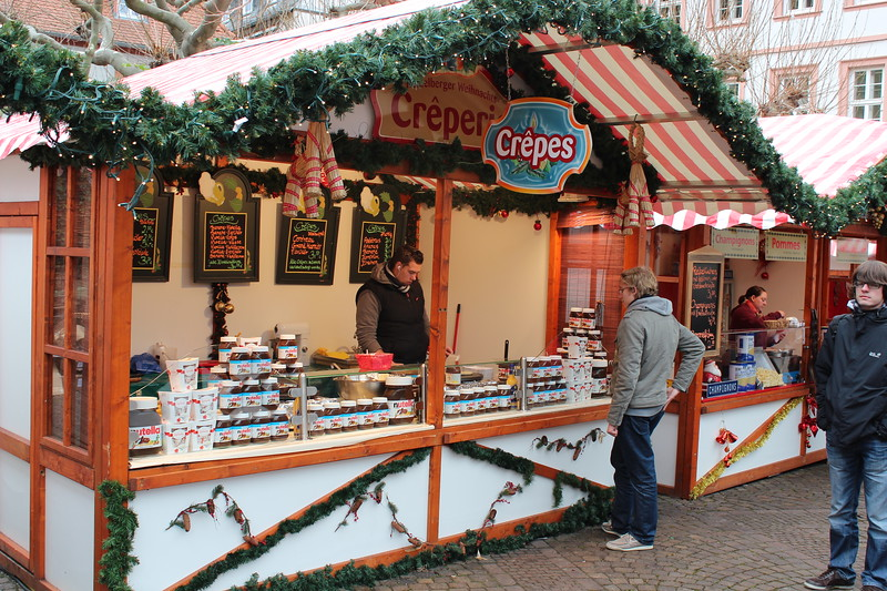 Germany, Heidelburg, Christmas Markets Creperie
