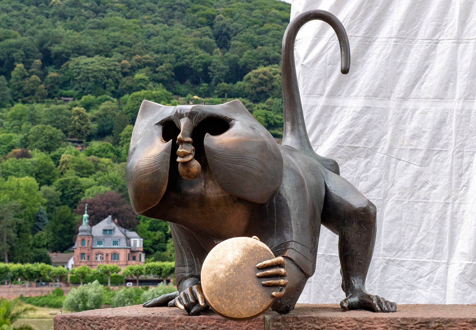 Spectacular Things to Do in Heidelberg Germany - Old Bridge monkey