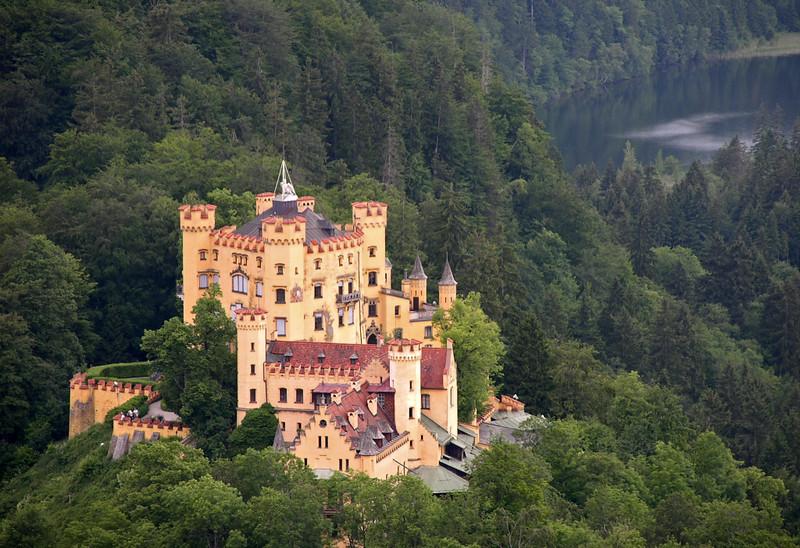 Hohenschwangau from Newschwanstein, Bavaria, 22 June 2004 2.