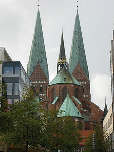 Marienkirche - completed in Gothic style in 1350, mainly destroyed during WWII, restored by 1959.
