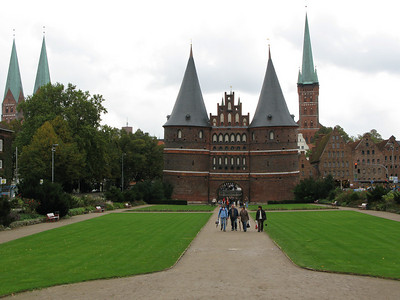 The Holstentor, the symbol of Lübeck, built between 1469-78.