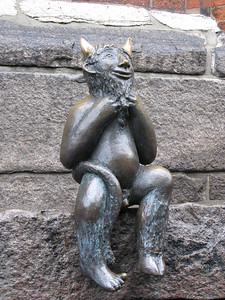 The Devil outside of Marienkirche........he was unhappy that they built a church instead of a wine bar!