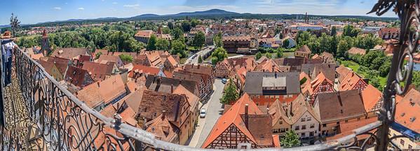 Blick vom Turm der Johanniskirche nach Süden