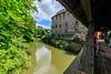 gedeckte Holzbrücke zur Kaiserburg / Wenzelschloss in Lauf an der Pegnitz