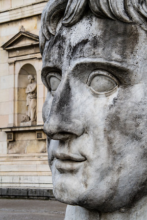 germany, münich, glyptothek museum, art, statue, caesar, augustus