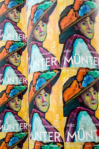 germany, münich, lenbachhaus museum, art, advertisement, gabriele münter