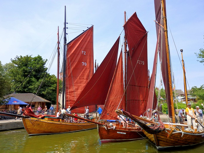 The Zeesboot Regatta in Wustrow