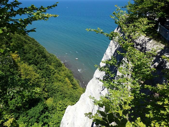 White chalk cliffs in Jasmine National Park, Germany