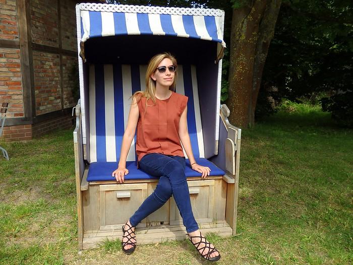 Strandkorb beach chair in Germany