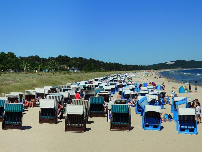Strandkorben on the beaches of the Baltic Sea