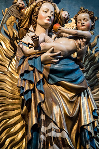 germany, nuremberg, art, statue, virgin mary, baby jesus