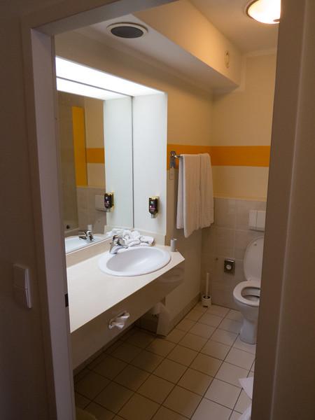 Old school bathroom at Ibis Styles