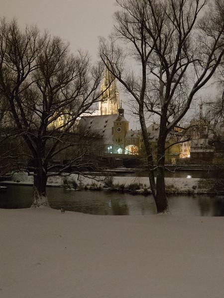 Regensburg at dusk