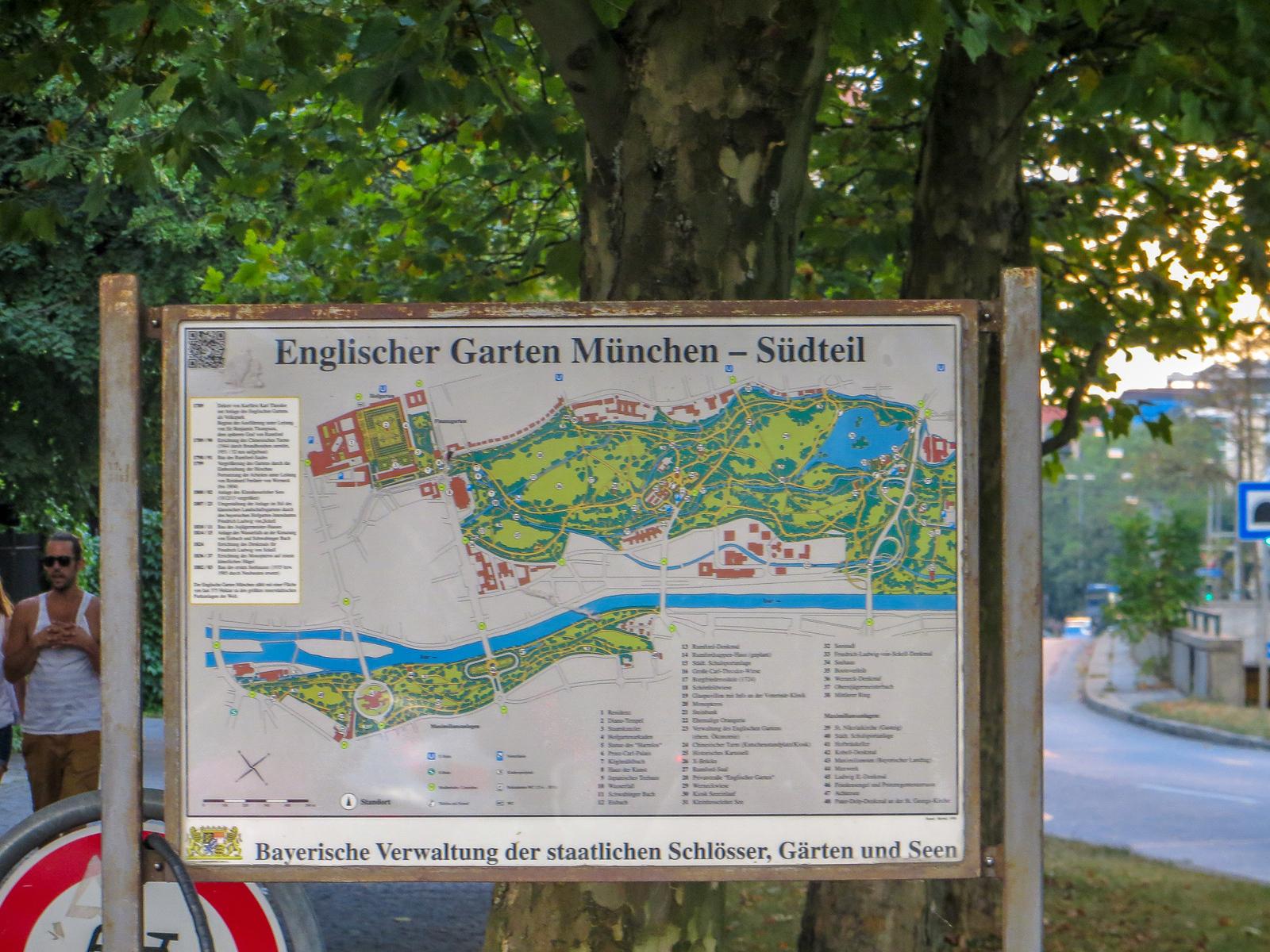 munich 2 days budget option: the english garden