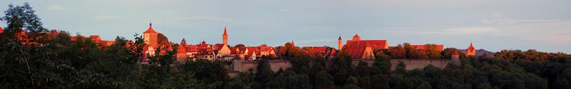 Sunset over Rothenburg (expandable)