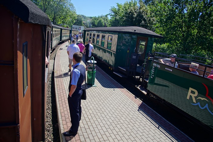 Vintage Train Ride on Ruegen Island, Germany